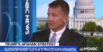 Here He Comes Again: Erik Prince Pushes To Privatize Afghanistan War