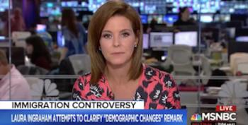 'You Dug An Even Deeper Hole': Stephanie Ruhle Destroys Laura Ingraham's Immigration 'Cleanup'