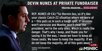 Devin Nunes Tells Donors GOP Must Keep Obstructing Mueller Or 'All Of This Goes Away'