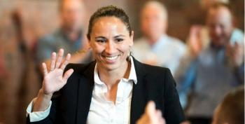 'Not From Around Here': GOP Rep Dog-Whistles Sharice Davids Right Before She Wins Primary