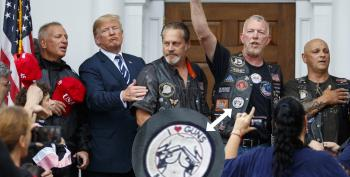 Trump Poses With Bikers Wearing Naked Boob Patches
