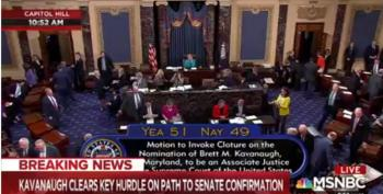 Kavanaugh Passes Cloture Vote, 51-49; Manchin, Collins, Flake Vote Yes