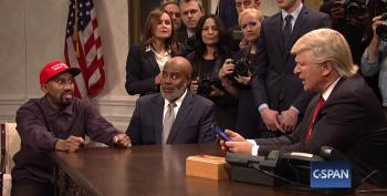 Trump Sees Kanye As The 'Black Me' In Saturday Night Live Cold Open