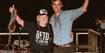 Willie Nelson And Beto O'Rourke Debut 'Vote 'Em Out' In Front Of Nearly 60,000