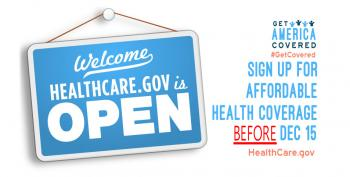 Obamacare Lives!  But Signups End December 15