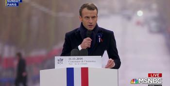 French President Emmanuel Macron Rebukes Nationalism During Armistice Day Centennial