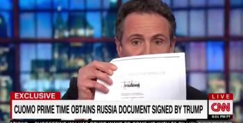 Chris Cuomo Busts Trump With Signed Letter Of Intent For Moscow Project