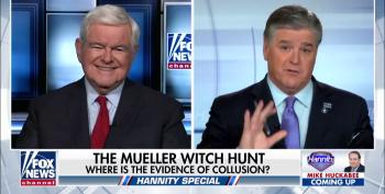 Hannity And Gingrich Whine About Democrats Trying To 'Destroy' Trump By Getting His Tax Returns