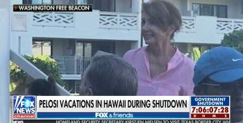 Fox Pretends Pelosi Is Already Speaker Of The House, Attacks Her For Vacationing In Hawaii