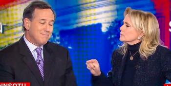WATCH: Three Women Experts School Rick Santorum Into Silence As He Tries To Spin Trump's Border Wall