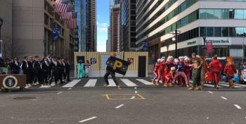 Best Parade Ever? Trump Carries P-tape, Gritty Saves America