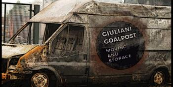 Giuliani's Goalpost Truck Running Right Over Don Jr.