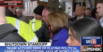 Pelosi Visits Furloughed Workers' Relief Center But Where Is Mitch?