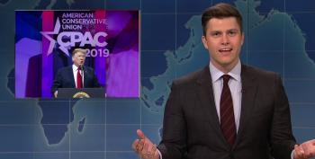 SNL Rips Trump's Crazier Moments During His Long Rambling CPAC Speech