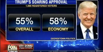 Lou Dobbs Crows About Trump's 'Soaring' Approval Rating — UPDATED