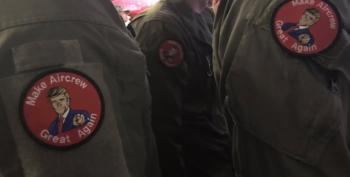 Active Duty Service Members Seen Wearing Trump Patches