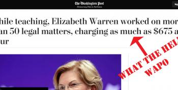 Washington Post Is Shocked Elizabeth Warren Got Paid