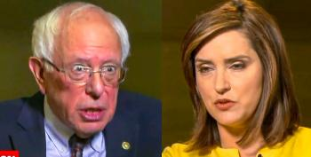 Bernie Sanders Slams CBS Host After She Defends Trump 'Just Doing A Limited Strike' On Iran