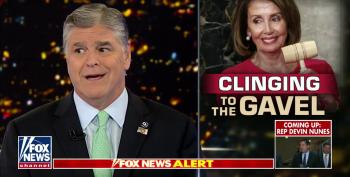 Hannity Pretends He's Not A Great Big Hypocrite Attacking Nancy Pelosi For Wanting Trump In Prison