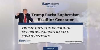 Daily Show Spoof: Racist Euphemism Headline Generator