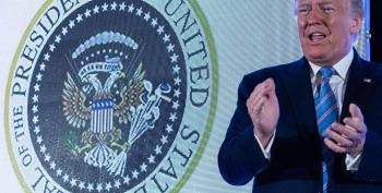 Trump's Speech Featured Presidential Seal With Russian Eagle And Golf Clubs