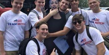 Mitch McConnell's Boys Grope And Molest A Cardboard AOC