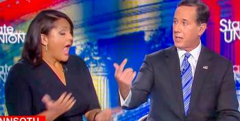 'That's Not True': Entire CNN Panel Unleashes On Rick Santorum Over Lies About Ukraine