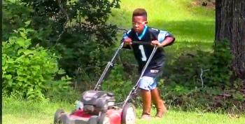 NFL Team Gives Black Child Lawnmower To Pay For College