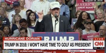 'Hypocrisy': CNN Panel Rips Trump For Playing Golf During Hurricane