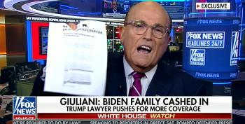 Giuliani Pretends Right-Wing Website Posts Are Affidavits