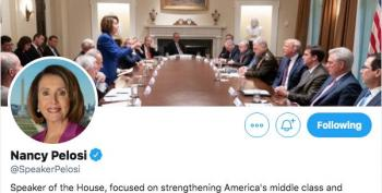 Nancy Pelosi Changes Her Twitter Header