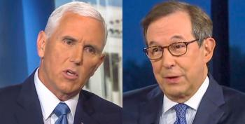 Pence Gets Grilled For Not Notifying Pelosi Of ISIS Raid -- But He Slobbers Over Trump Instead Of Answering
