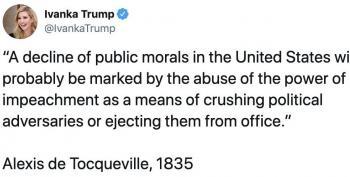 Ivanka Tweets Fake De Tocqueville Quote In Defense Of Trump