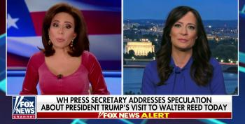 Fox's Jeanine Pirro Heaps Praise On Trump After Surprise Visit To Walter Reed: 'He's Almost Superhuman!'