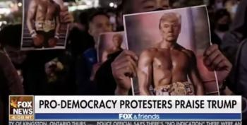 Pete Hegseth Insists Hong Kong Protesters 'See Rocky Balboa' When They Look At Trump