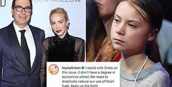 Louise Linton Sides With Greta Thunberg Over Her Husband Steve Mnuchin