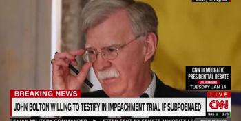 John Bolton: Trump Explicitly Said Ukraine Aid Freeze Was Tied To Investigations Into Democrats
