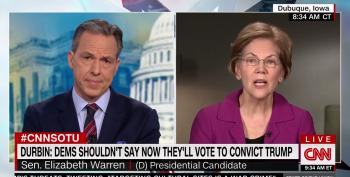 Sen. Warren Shoots Down Tapper's Accusation That She's Not An Impartial Juror On Impeachment