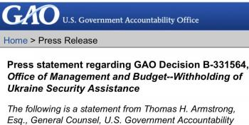 BREAKING:  GAO Says Trump Broke The Law