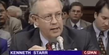 Republican Organization Trolls Trump Administration, Posts Videos Of Ken Starr's 1998 Testimony