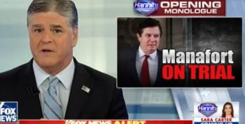 Hannity And Manafort, Whispering Sweet Nothings