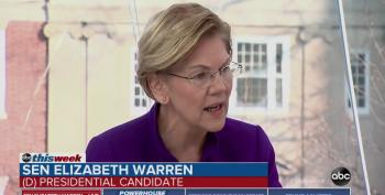 Elizabeth Warren Rebukes Stephanopoulos For 'Putting Democracy On The Line'