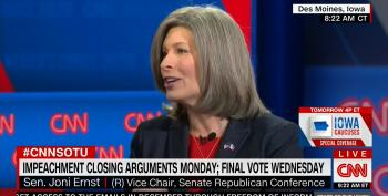 Sen. Joni Ernst Plays The Obama False Equivalence Game To Excuse Acquitting Trump