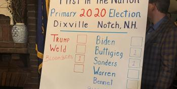 Trump LOSES Dixville Notch Primary To Write-In Bloomberg