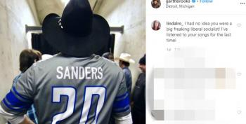 Trump Fans Go Nuts After Garth Brooks Wears 'Sanders' Jersey For Michigan Show