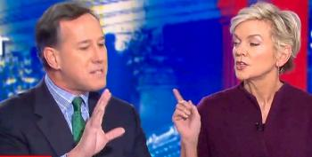 Jennifer Granholm Catches Rick Santorum Shamelessly Lying About Pre-Existing Conditions