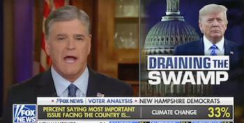 Deluded Sean Hannity Claims Barr/Trump Interference In Stone Case Is 'Draining The Swamp'