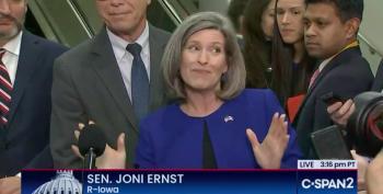 Colossal Idiot Joni Ernst Promises To Pre-Impeach Biden