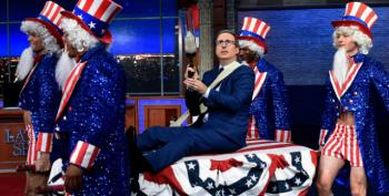 John Oliver Celebrates His American Citizenship On Colbert