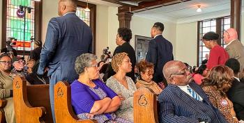 Members Of Historically Black Church Turn Their Backs As Michael Bloomberg Speaks About 'Bloody Sunday'